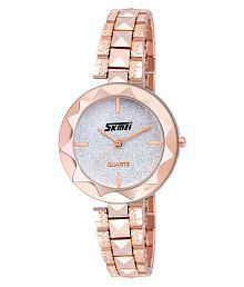 Skmei Stainless Steel Round Womens Watch