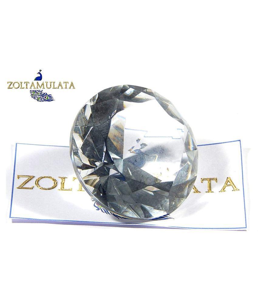 Zoltamulata White Crystal Gemstone for Fengshui vastu Astrology & Aura or showpiece Table weiht for Office vastu with Weight 72.10gm