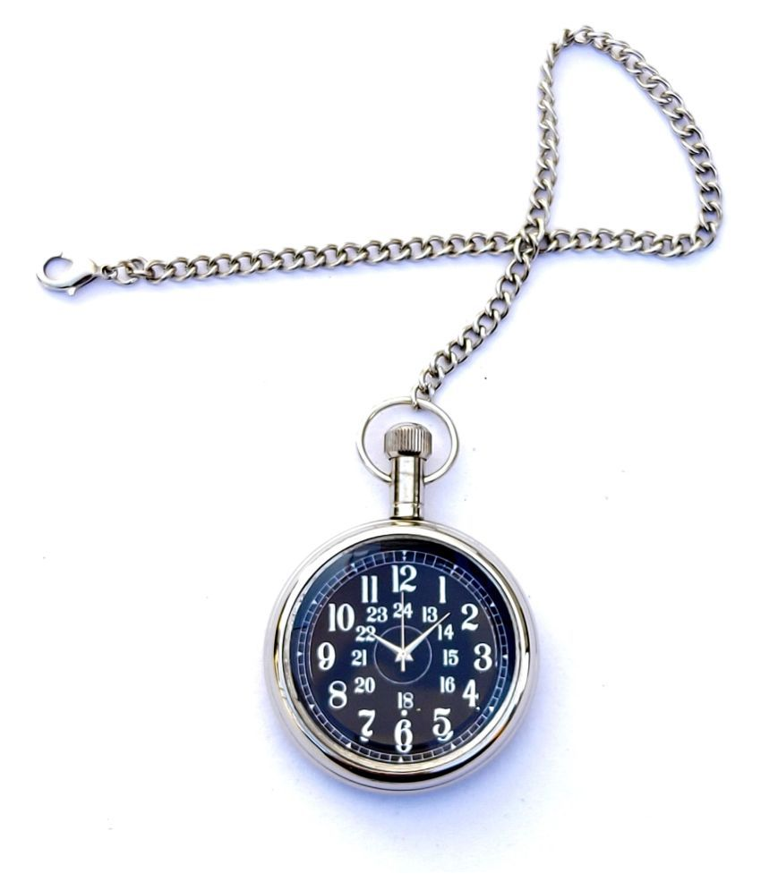KV HANDICRAFTS Round Analog Pocket Watch Chain