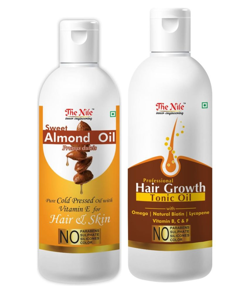 The Nile Sweet Almond 100 ML +  Hair Tonic Oil 150 ML  Hair Oils 250 mL Pack of 2