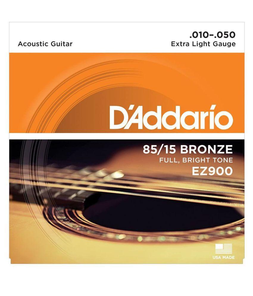 D'Addario EZ 900 Acoustic Guitars 0.01 Roundwound Bronze Guitar String
