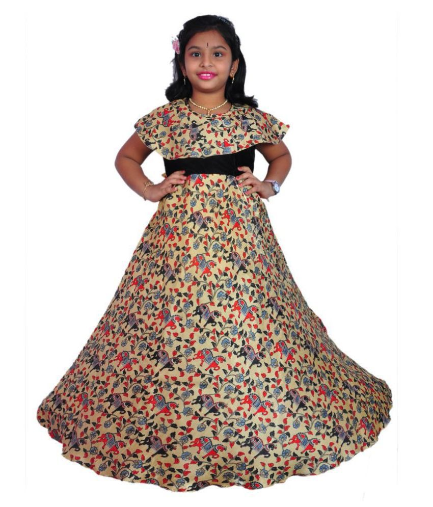 NIHA  Girls Kids Party Wear Long Frock Maxi Gown Birthday Dress  ( LF76)