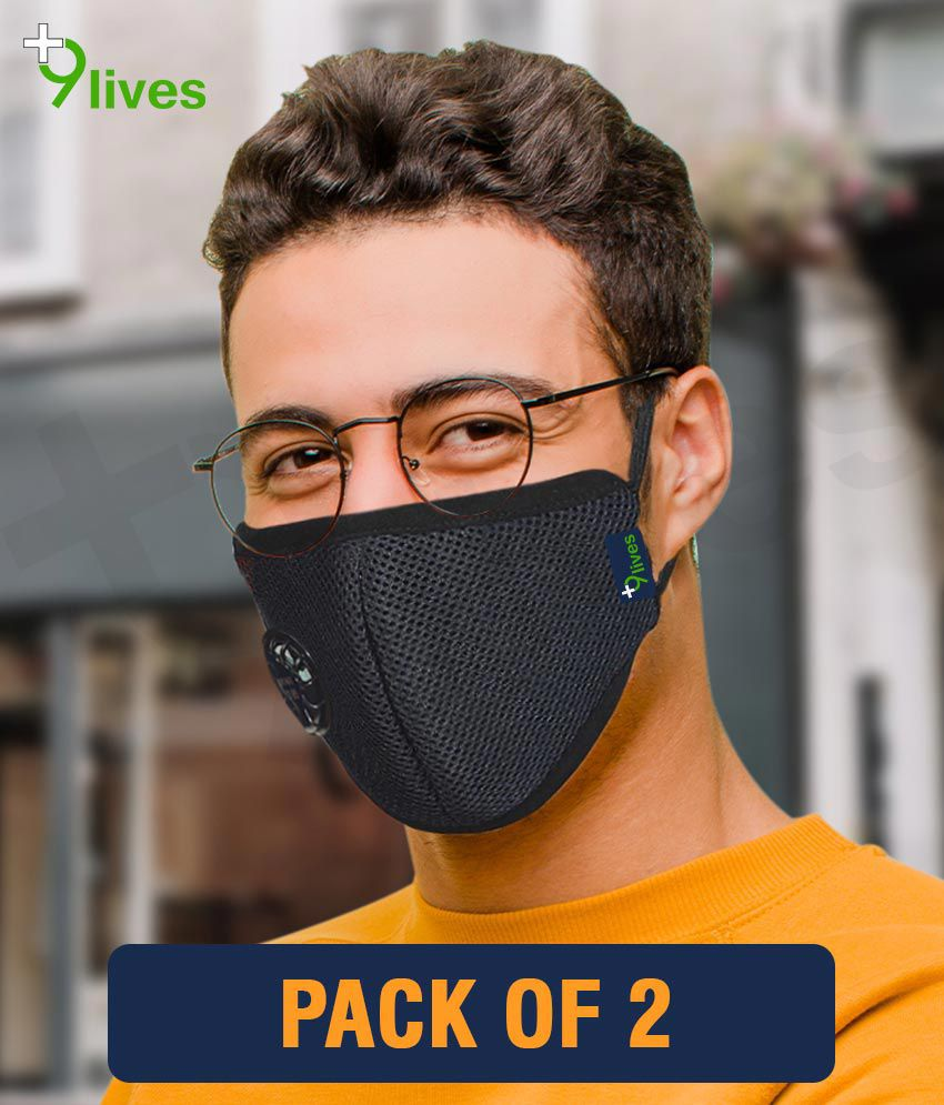 9lives 6 layer protection Reusable DN95 Anti-pollution Mask/Face cover - Pack of 2