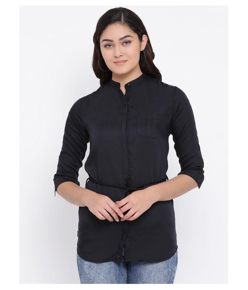 Crimsoune Club Black Viscose Shirt