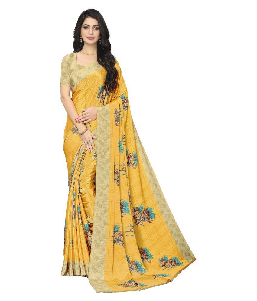 MKX Yellow Art Silk Saree