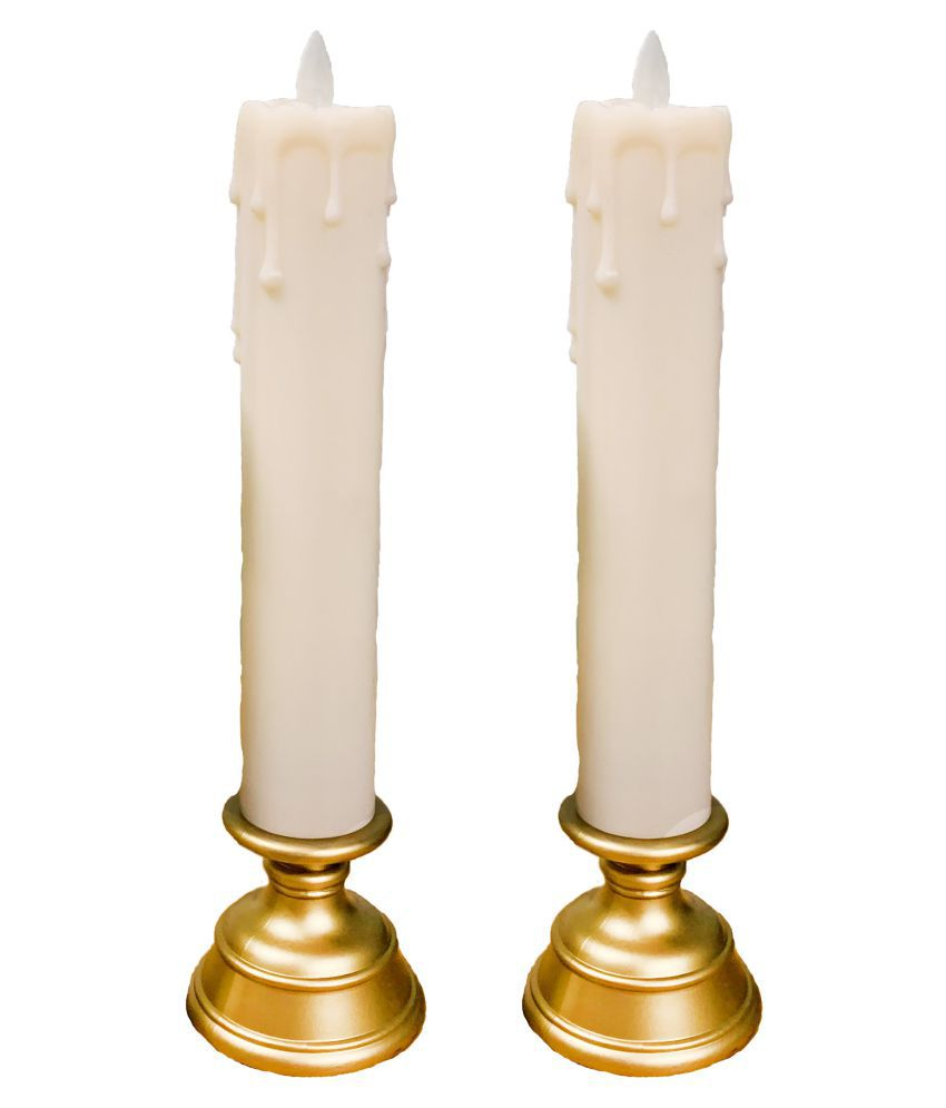 Orchard White Pillar Candle - Pack of 2