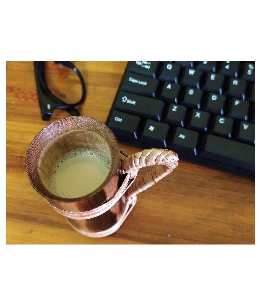 Bengal Handicrafts & Handlooms Bambbo BMUG-100ml Self Stirring Coffee Cup 6 Pcs 100 ml