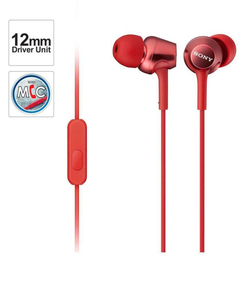 Sony MDR EX250AP In Ear Wired With Mic Headphones/Earphones