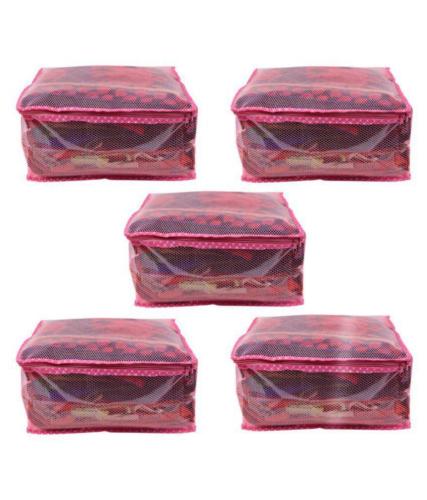 RAJA Pink Saree Covers - 5 Pcs