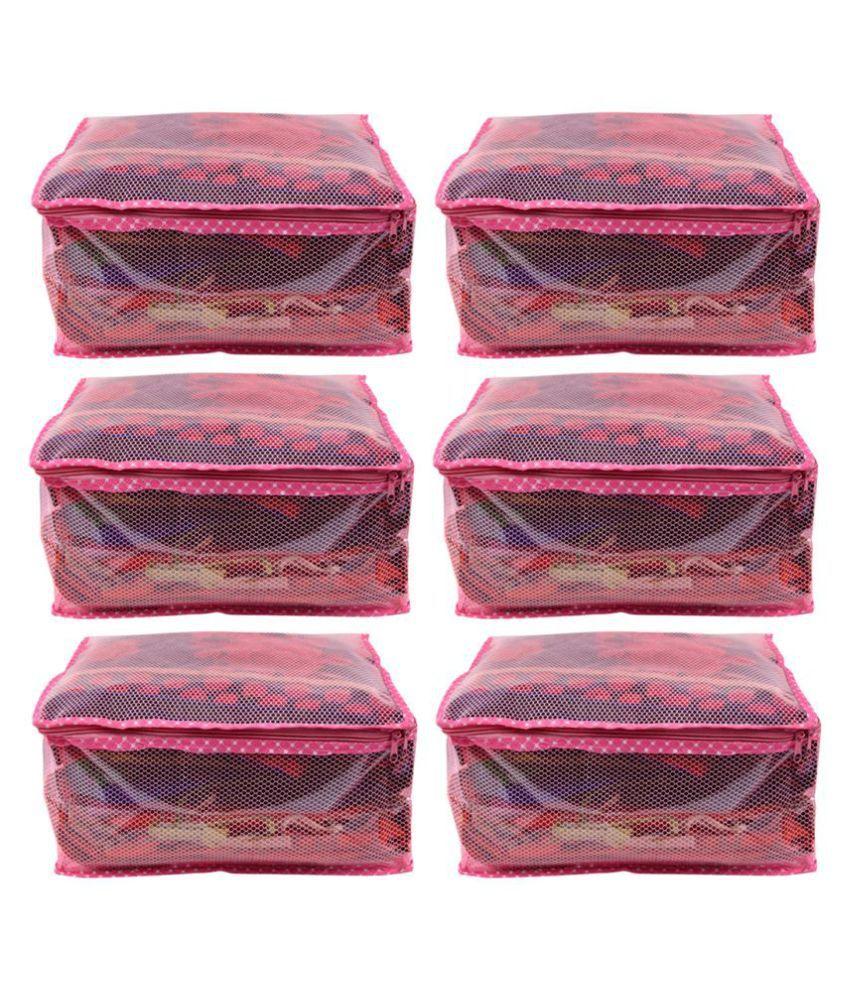 RAJA Pink Saree Covers - 6 Pcs