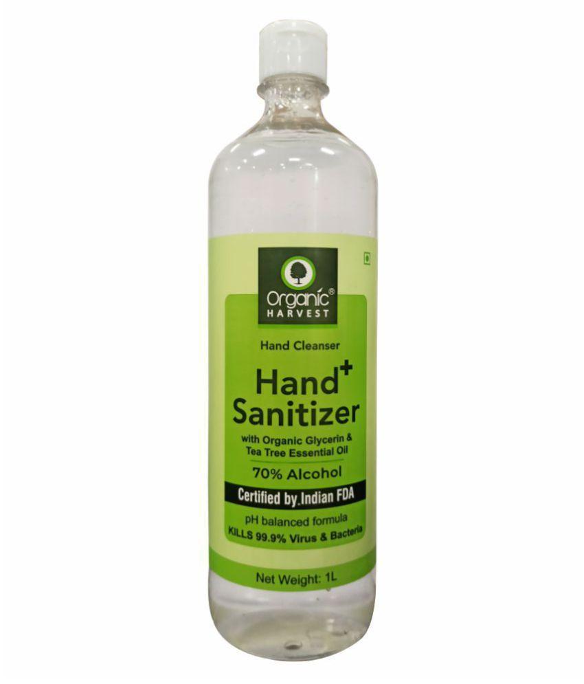 Organic Harvest 70% alcohol Hand Sanitizer 1000 mL Pack of 1