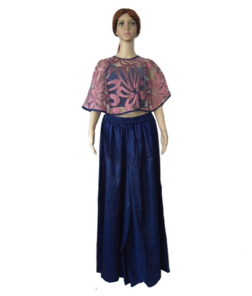 Ox Nrich Pvt Ltd Crepe Blue Regular Dress