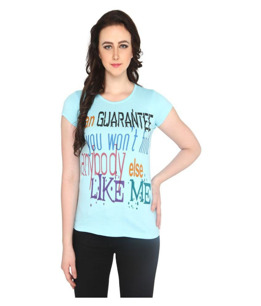 P Nut Casual Cotton Blue T-Shirts