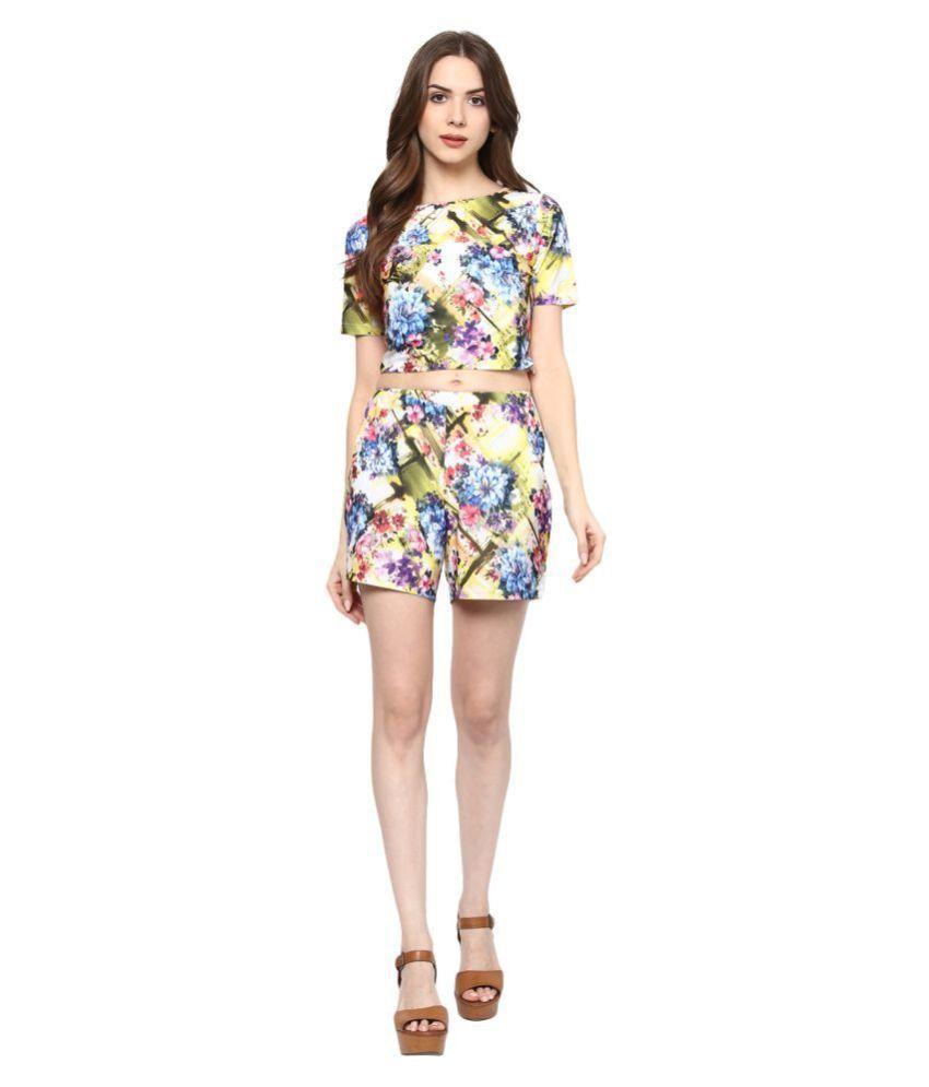 KAPOOR BROTHERS Cotton Lycra Multi Color Regular Dress
