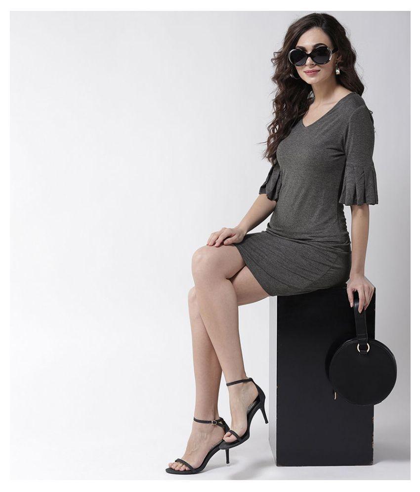 La Zoire Cotton Grey Regular Dress