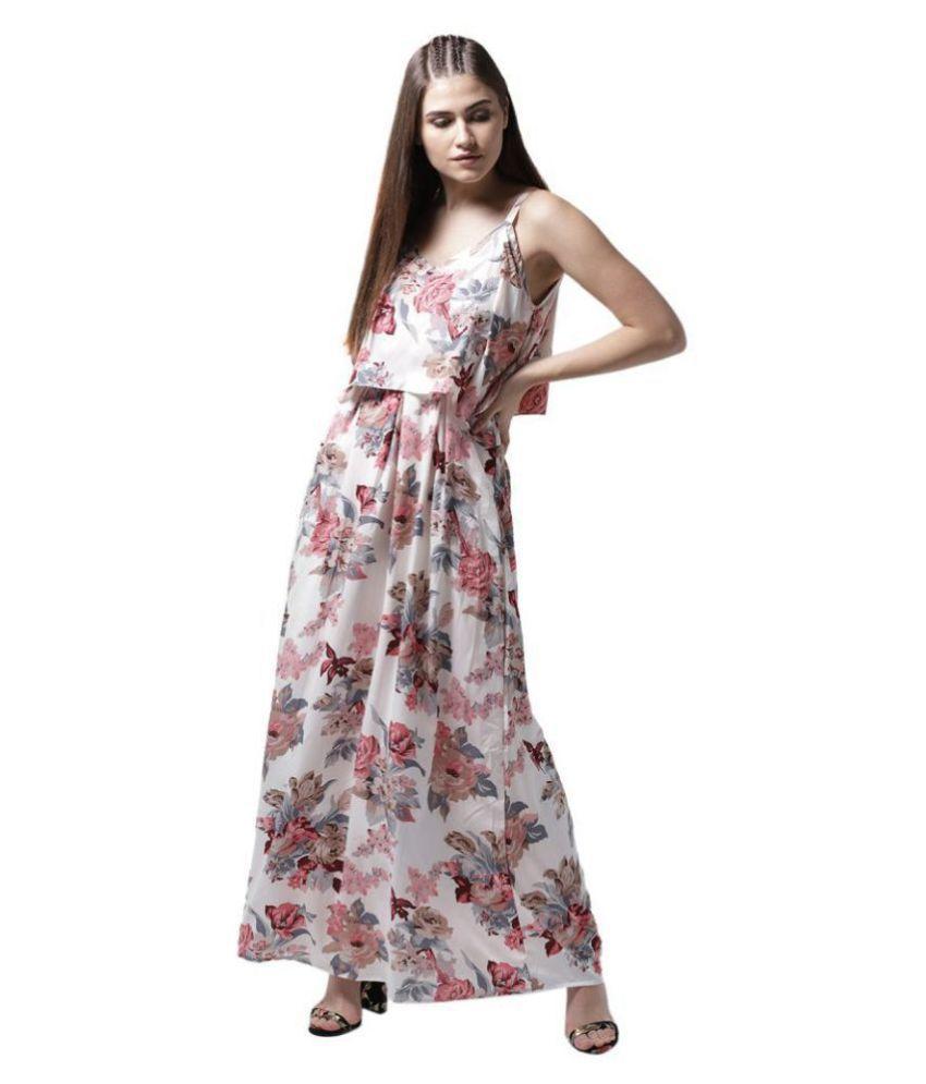 La Zoire Crepe White Regular Dress