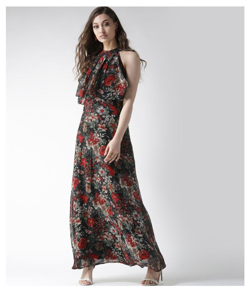 La Zoire Georgette Black Regular Dress