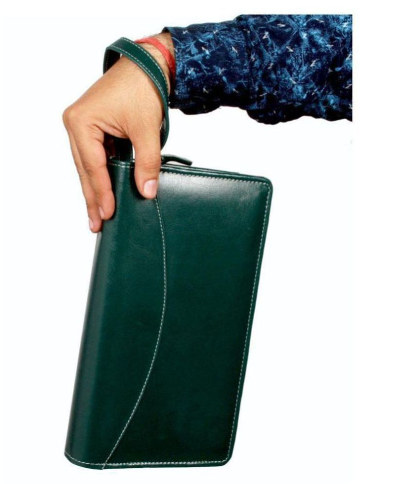 Multiple Cheque Book Holder with Wrist Loop Rfid Safe