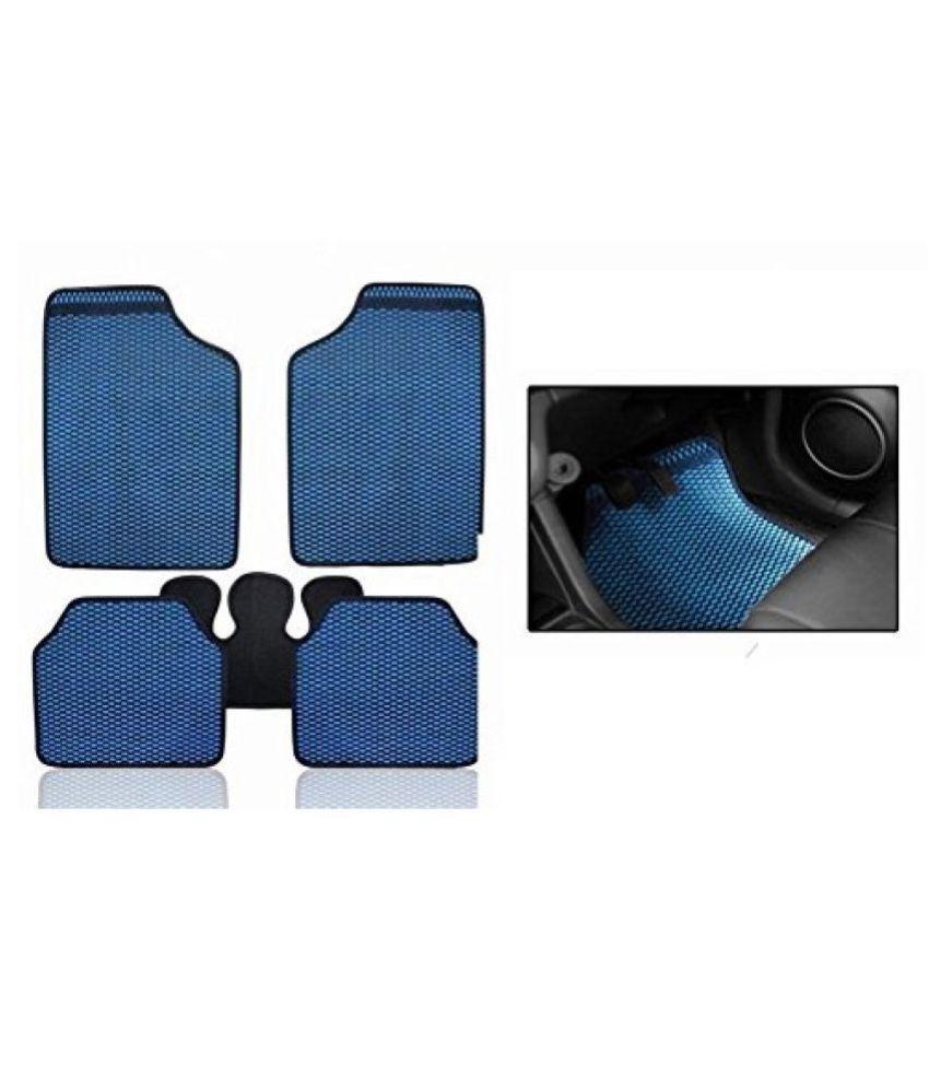 Autofetch Car Eclipse Odourless Floor/Foot Mats (Set of 5) Blue for Honda New Amaze