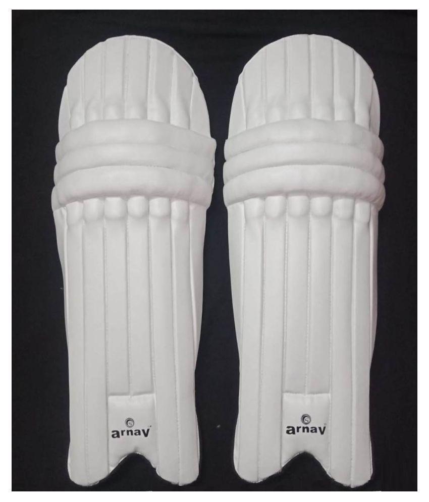 Arnav White Batting Leg Guard Practice with Two Layer Padded