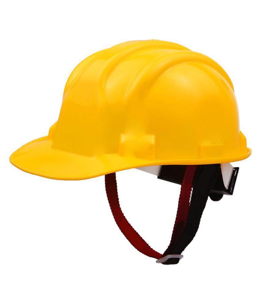 HAZZLEWOOD Yellow Safety Helmet