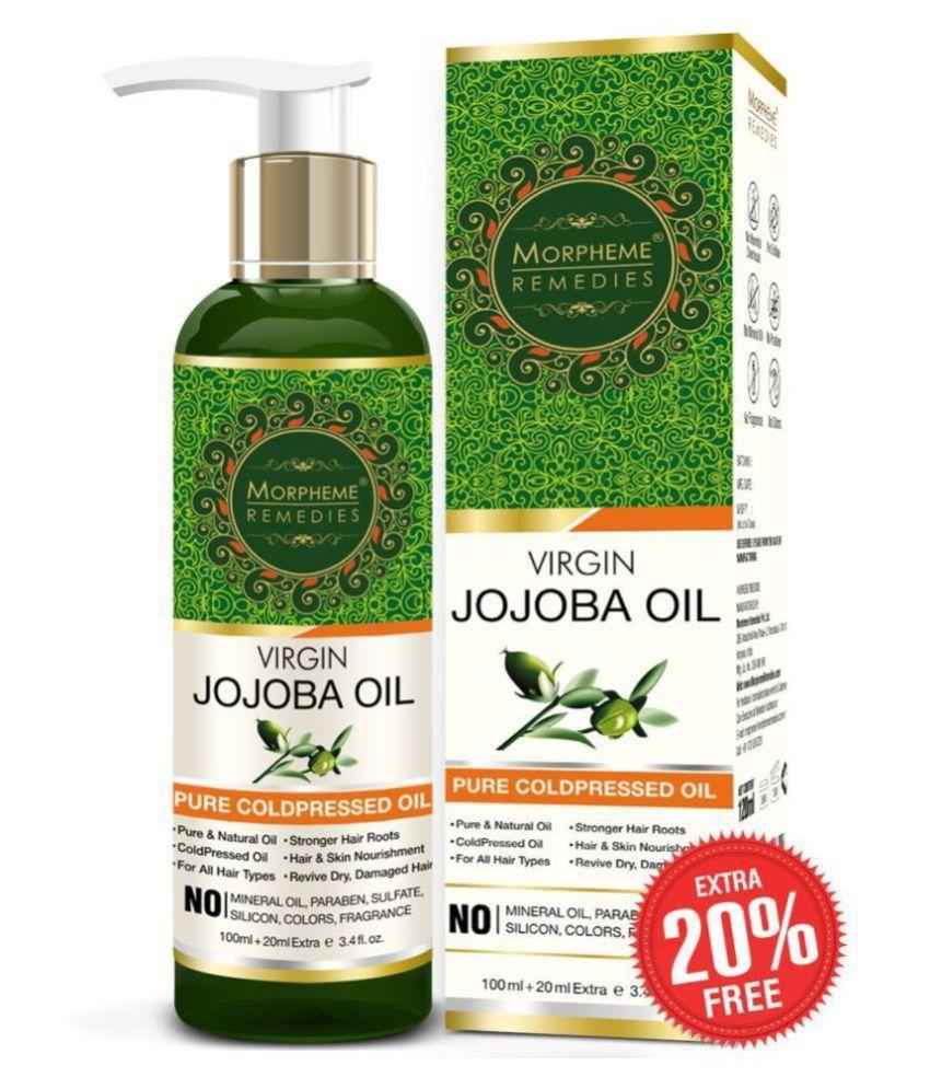 Morpheme Remedies Pure Virgin Golden Jojoba Oil ColdPressed For Hair 120 ml