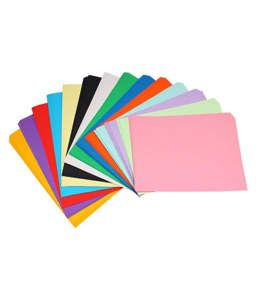 SNOW CRAFTS A4 Size Premium Coloured Paper/Sheets For Art  amp; Craft Projects School Colleges Pack of 100 Sheets