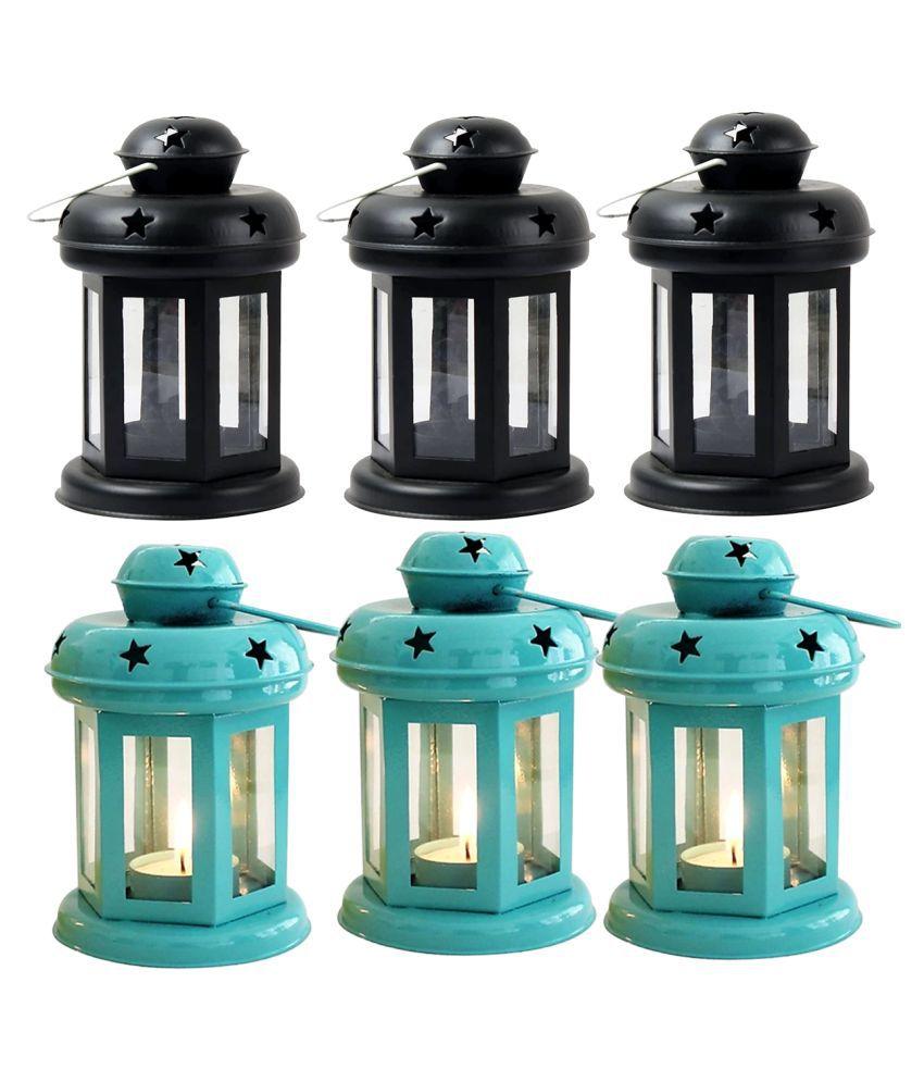 designer international Decorative Lantern/Lamp with t-Light Candle Hanging Lanterns 15 - Pack of 6