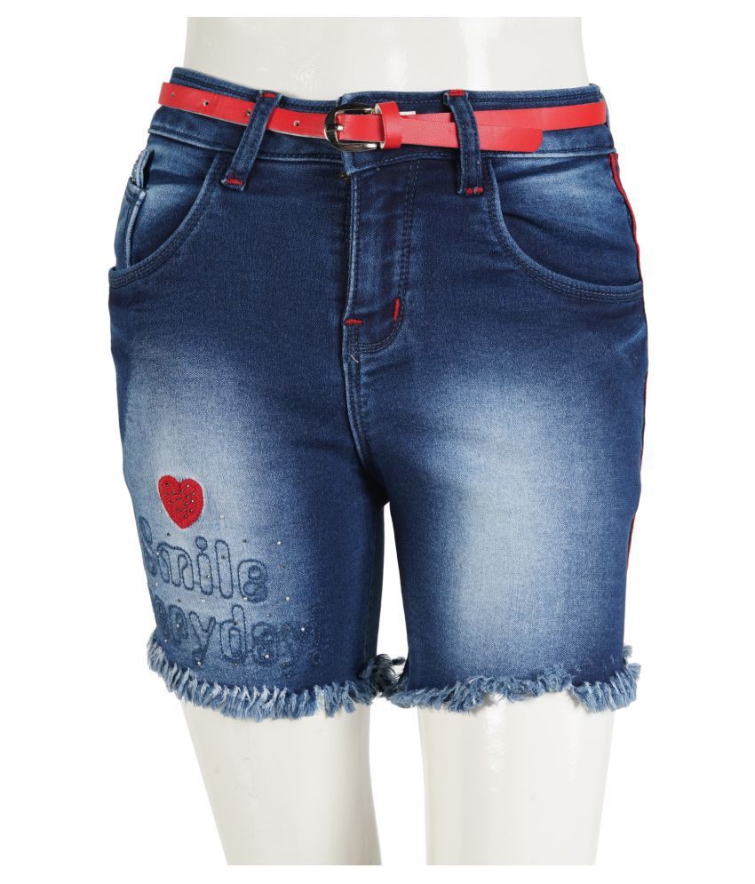 FRONT EMBROIDERY GIRLS SHORTS