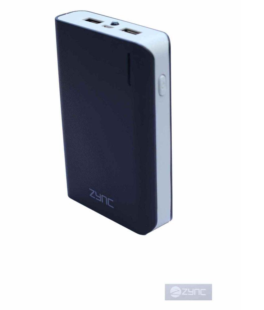 Zync 10400  mAh Li Ion Power Bank Black