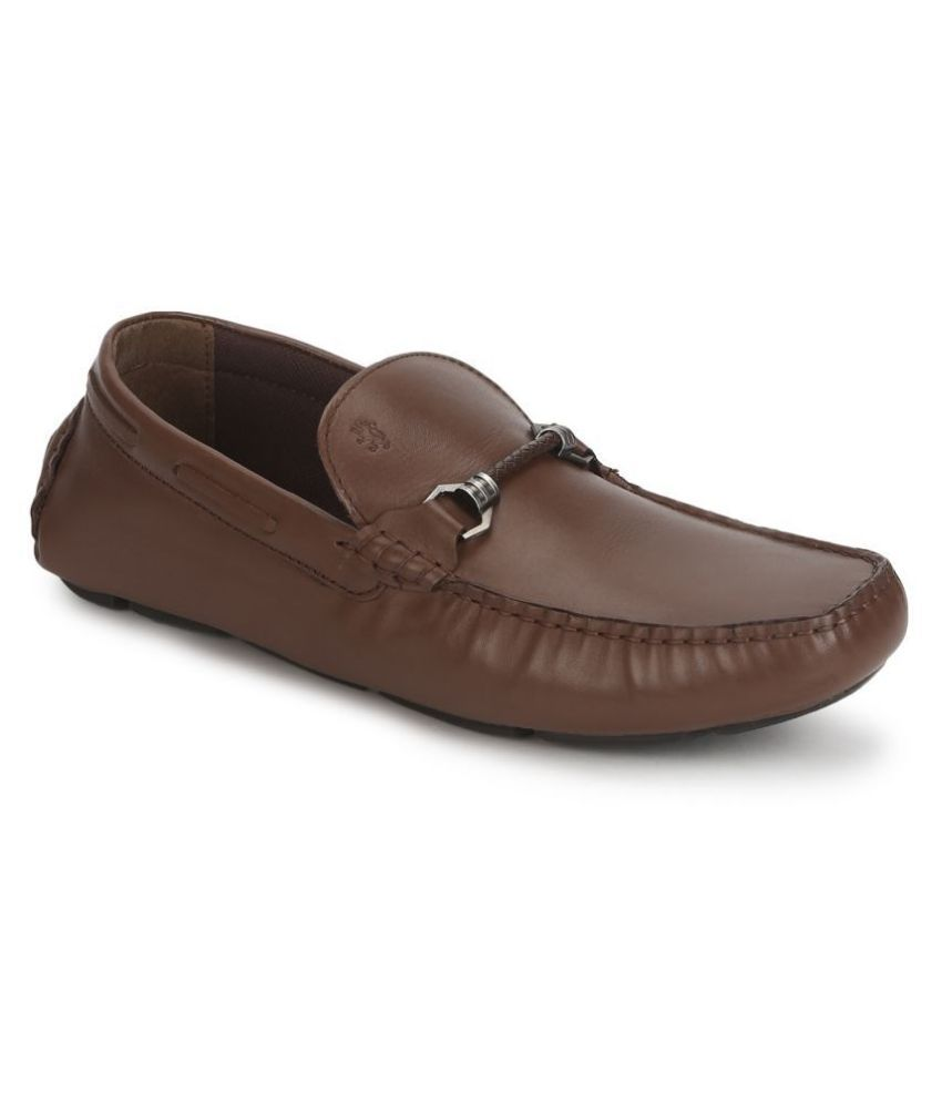 Red Tape Slip On Genuine Leather Tan Formal Shoes