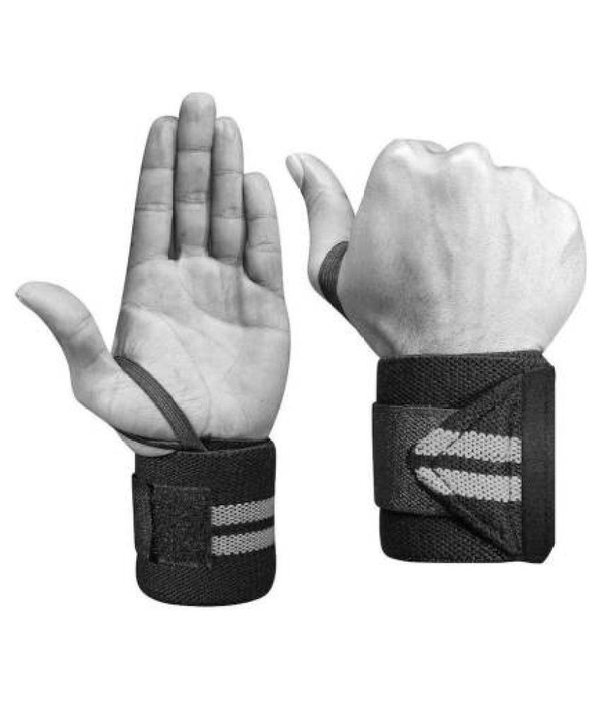 EmmEmm 2 Pcs 2 in 1 Thumb Loop Wrist Support Free Size