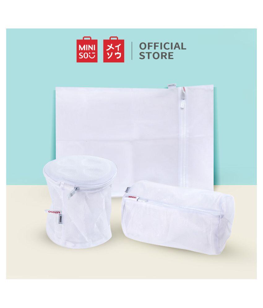 Miniso Set of 3 5-8 L Laundry Bags White