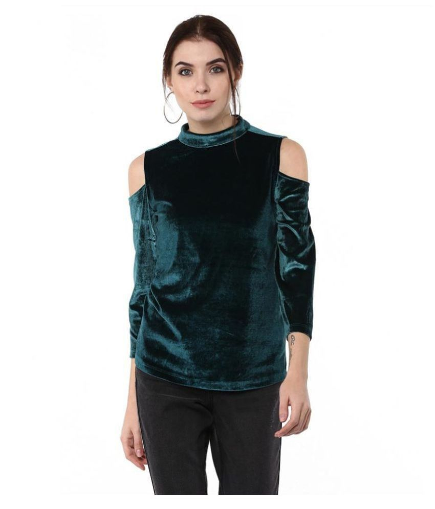 Moda Elementi Blended Green Pullovers
