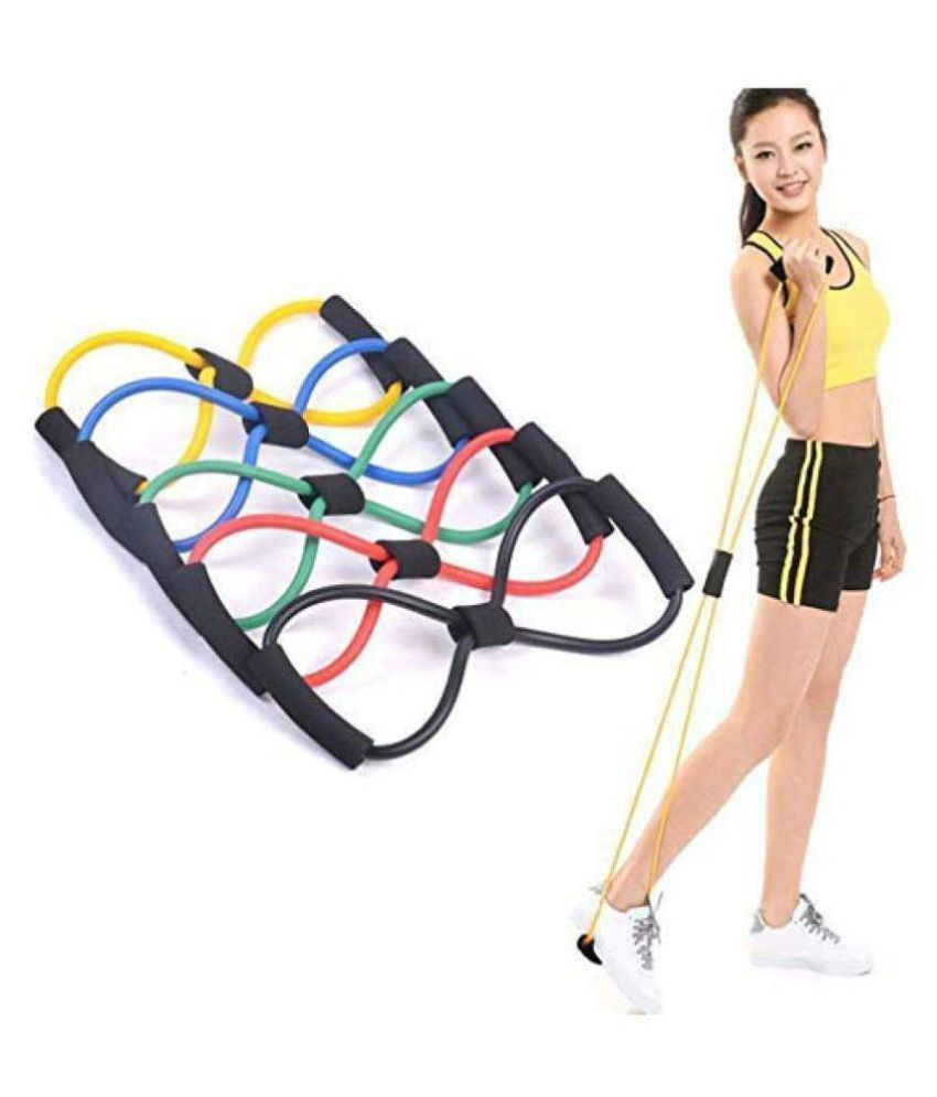 Adipri Chest Expander resistance 8 Type Muscle Chest Expander Rope workout Pulling Exerciser Fitness Exercise Tube Sports Yoga for Men  amp; Women   M