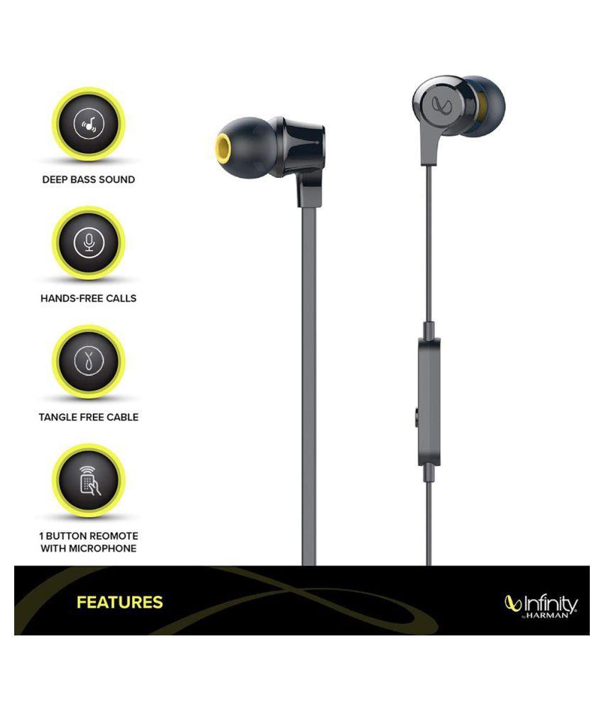JBL Infinity Wynd 300 In Ear Wired With Mic Headphones/Earphones