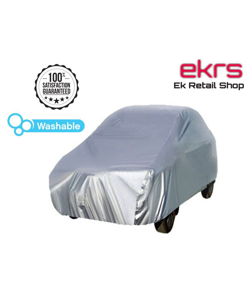 EKRS Silver Matty DUST PROOF Car Body Cover / Car Cover For Beat PS with Triple Stitching & Light Weight