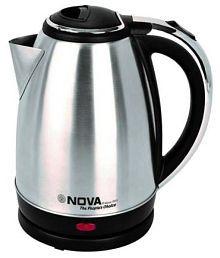 NOVA NKT-2733 Double Wall 1.7 Liter 1500 Watt Stainless Steel Electric Kettle