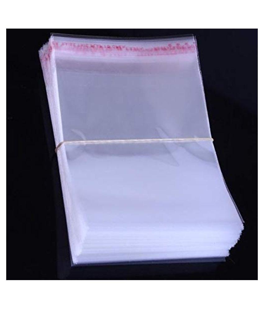 MPW Self Adhesive Multi-purpose Bag (Transparent, 8×18 Inch) Pack of 200 Pieces