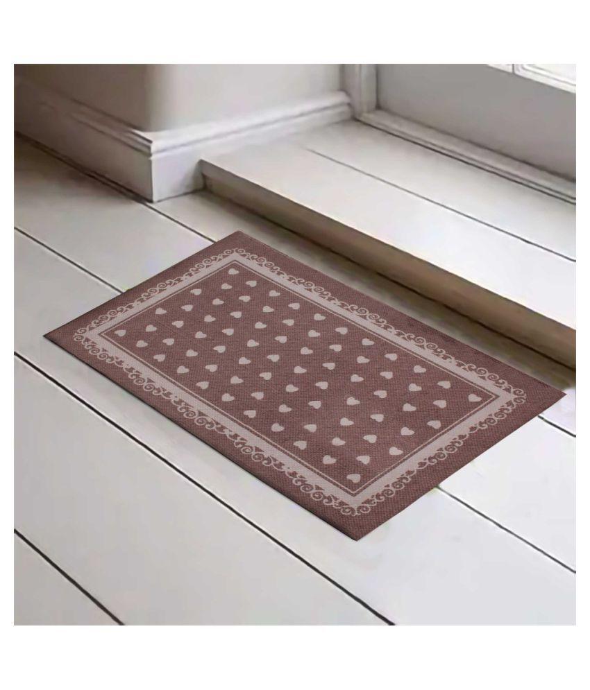Fashion Art Brown Single Floor Mat