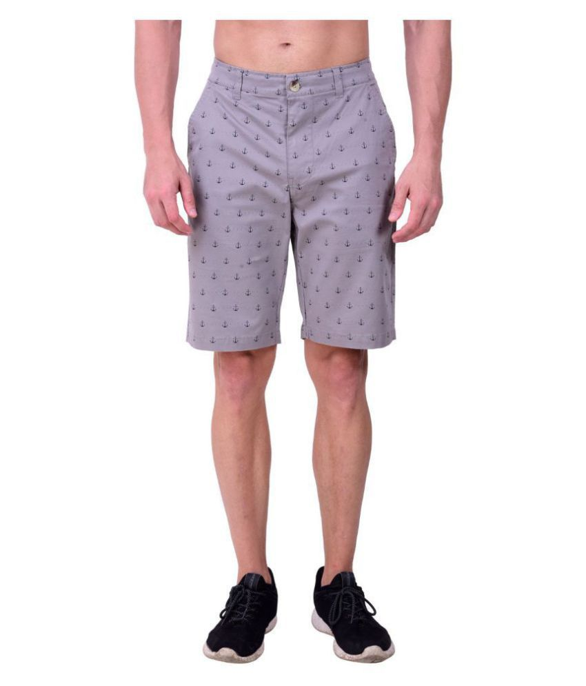 HUDSON & BARROW Grey Shorts