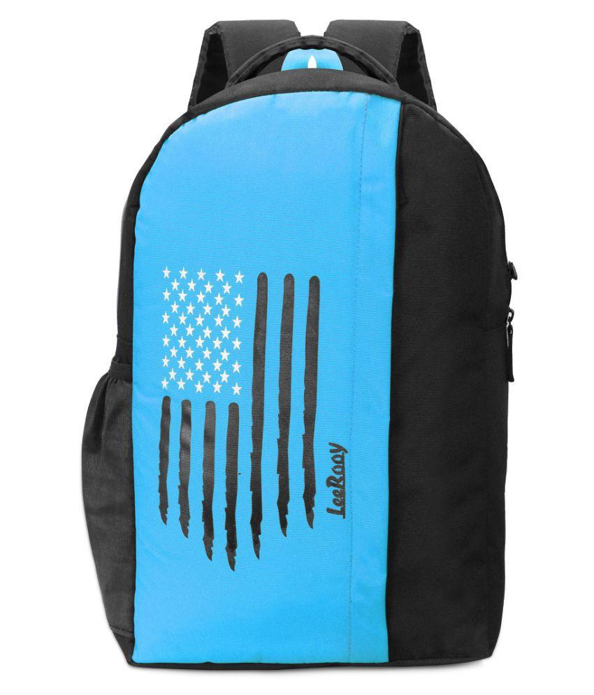 LeeRooy Black Canvas College Bag