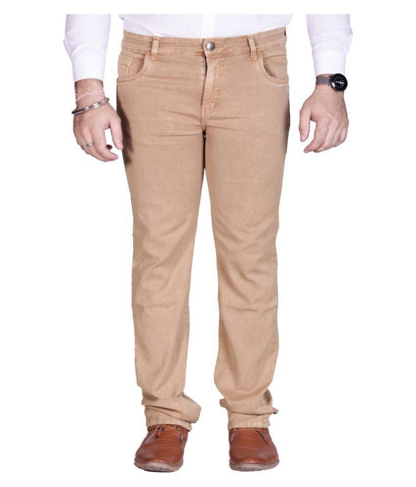 PRANKSTER Khaki Regular Fit Jeans