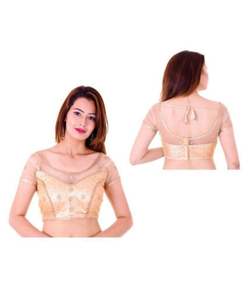Bulbul Gold Shimmer Readymade with Pad Blouse