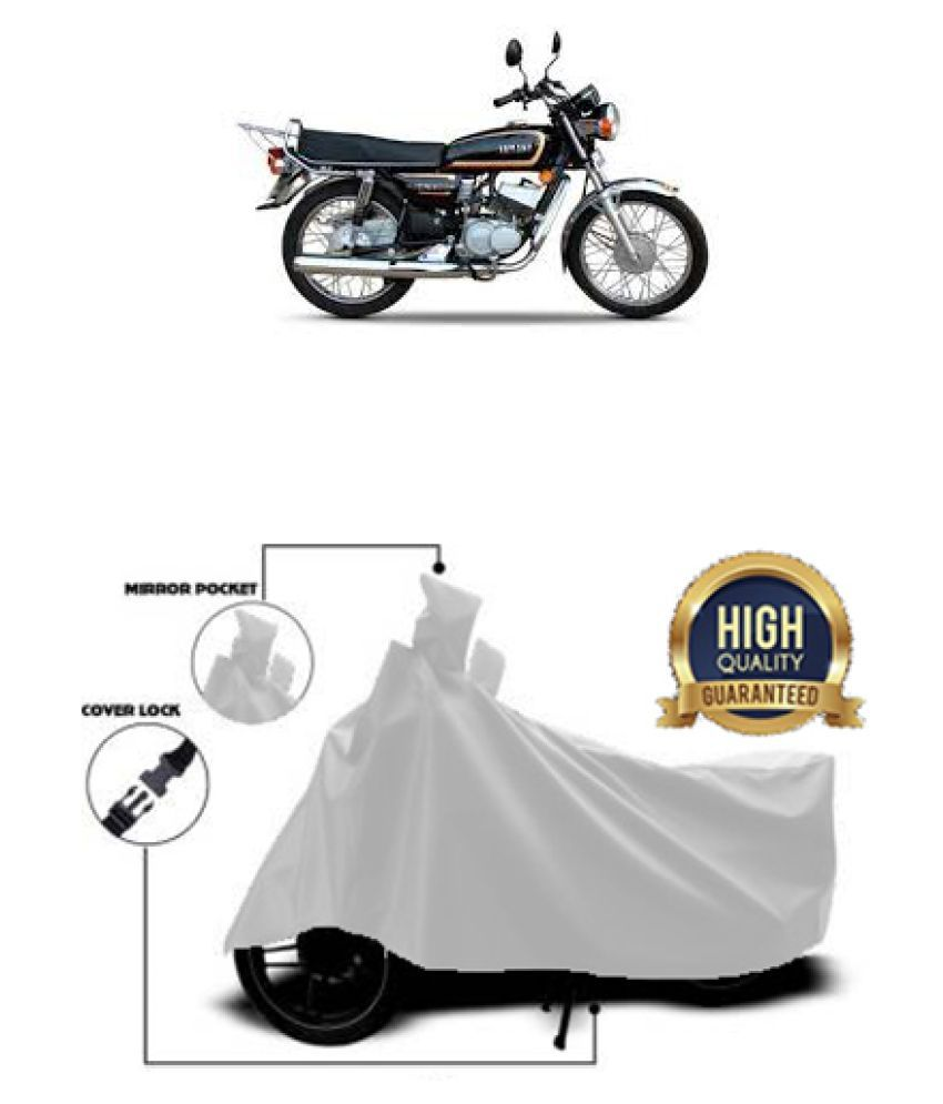 Motohunk two wheeler cover for Yamaha RX135 (Silver)