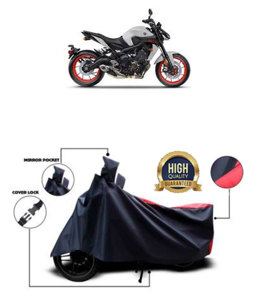 Motohunk two wheeler cover for Yamaha MT-09 (Red, Black)