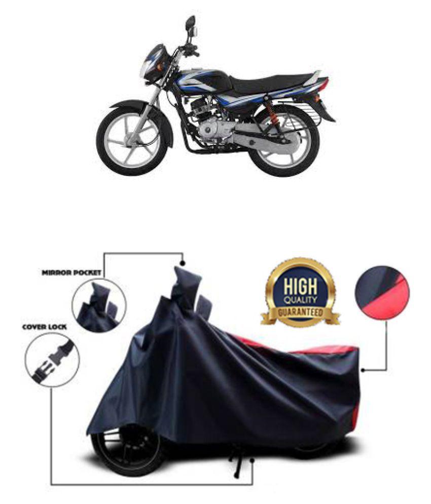 Motohunk two wheeler cover for Bajaj Aspire (Red, Black)