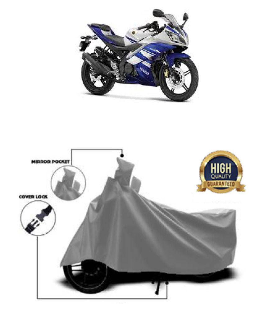 Motohunk two wheeler cover for Yamaha YZF-R15 Grey