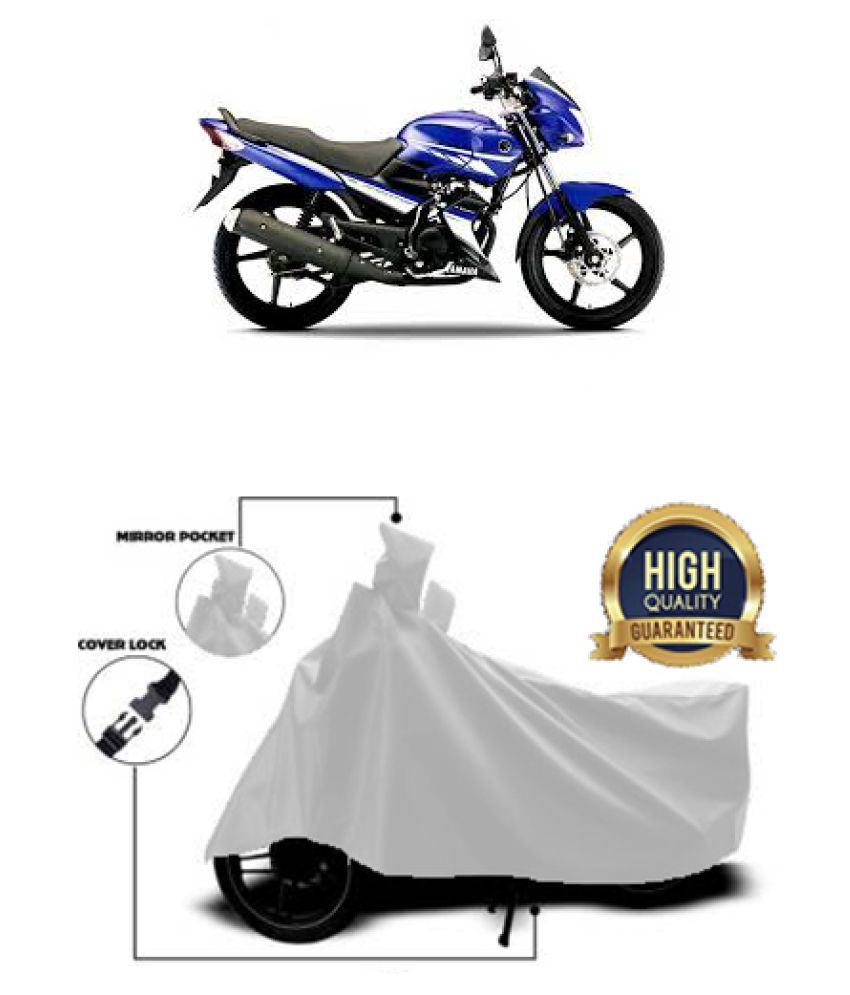 Motohunk two wheeler cover for Yamaha Gladiator RS (Silver)