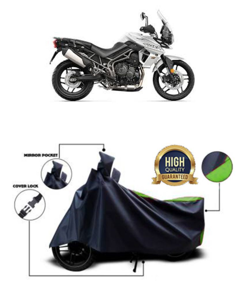 QualityBeast two wheeler cover for Triumph Tiger 800 XRx (Green, Black)